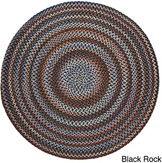 product image for Rhody Rug Augusta Round Braided Wool Rug (8' x 8') Black