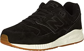 New Balance 530 Black Suede Trainers