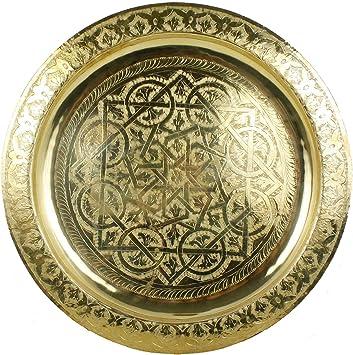 Creatieve Decoratie Ideeen.Casa Moro Marokkaans Dienblad Rond Karam O 40 Cm Van Messing