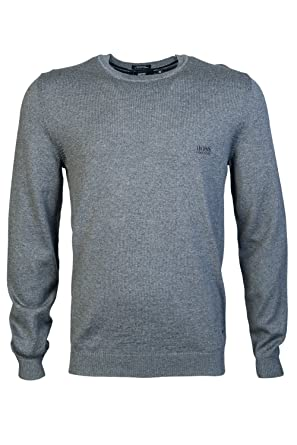5478cd339 Amazon.com: Hugo Boss Black Bagritte Round Neck Regular Fit Grey ...