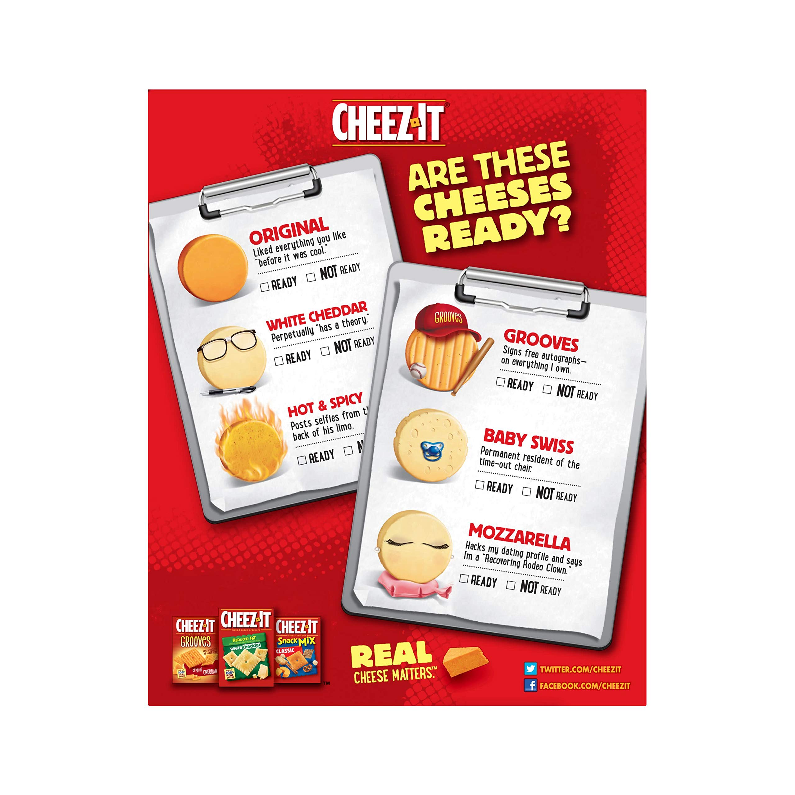 Cheez-It Baked Snack Cheese Crackers, Reduced Fat, Original, 6 oz Box(Pack of 12) by Cheez-It (Image #8)