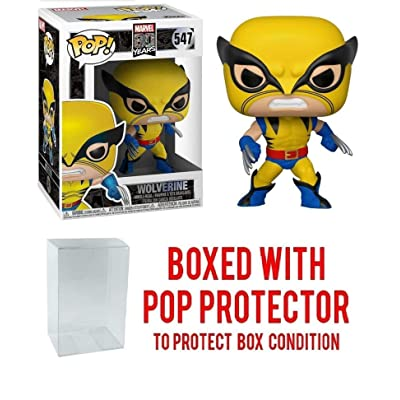 Pop Marvel Wolverine First Appearance 80th Anniversary Pop Vinyl Figure (Bundled with Pop Shield Protector): Toys & Games