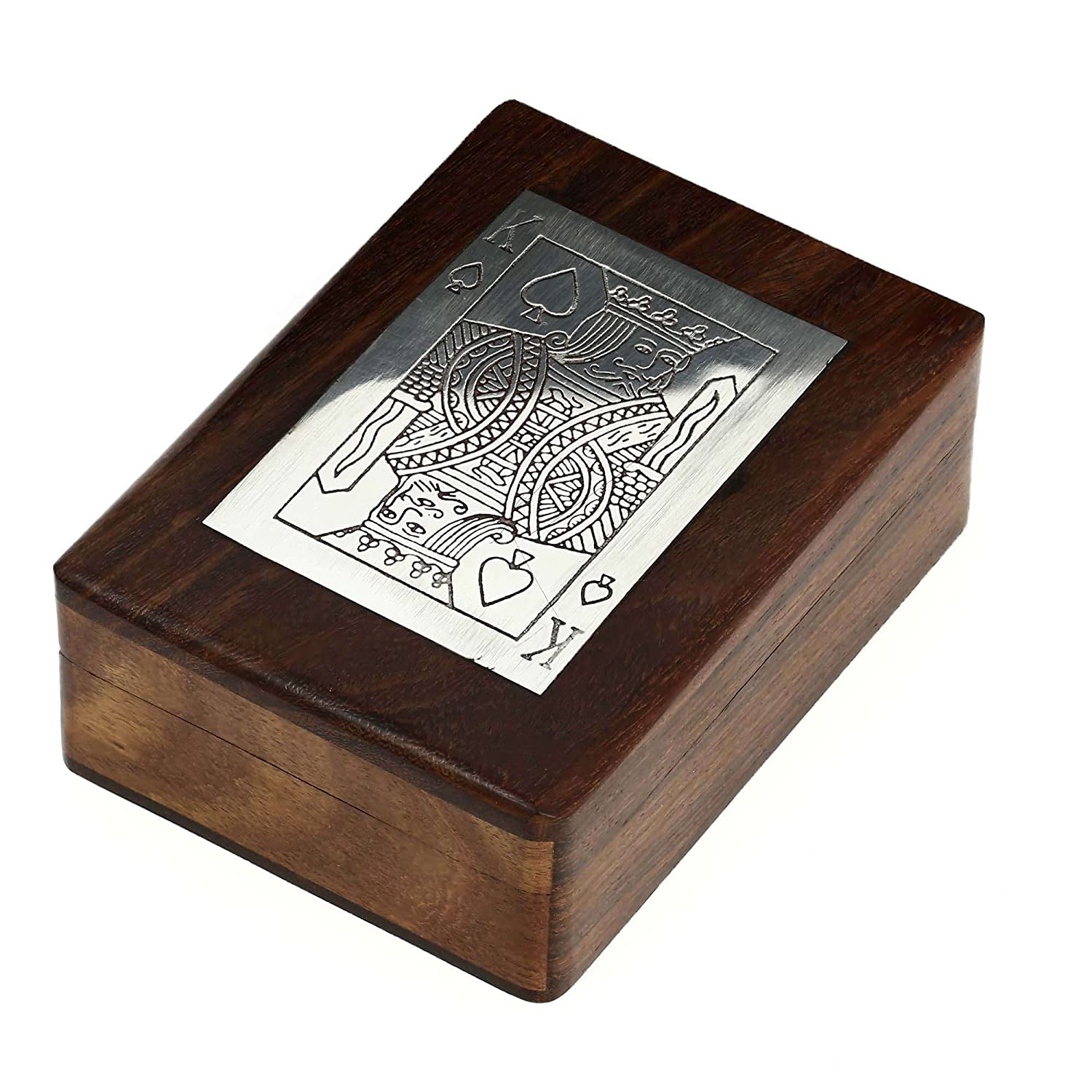 Amazon.com: Wooden Boxes for Storage Playing Card Holder Artisan ...