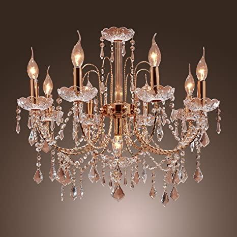 LightInTheBox Elegant Candle Style Crystal Chandelier with 9 Lights ...