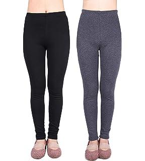 3ce909b752c5bb IRELIA 2 Pack Girls 100% Cotton Fleece Lined Warm Leggings for Winter