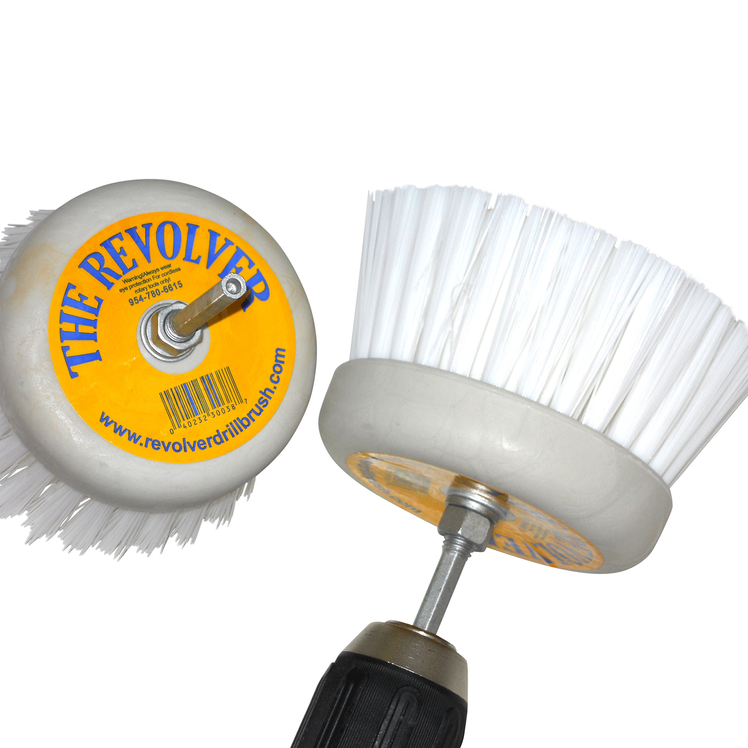 Revolver Drill Brush - Power Scrubbing Drill Attachment - Multi-Purpose Cleaning Tool (2 Pack) by Revolver Drill Brush (Image #3)