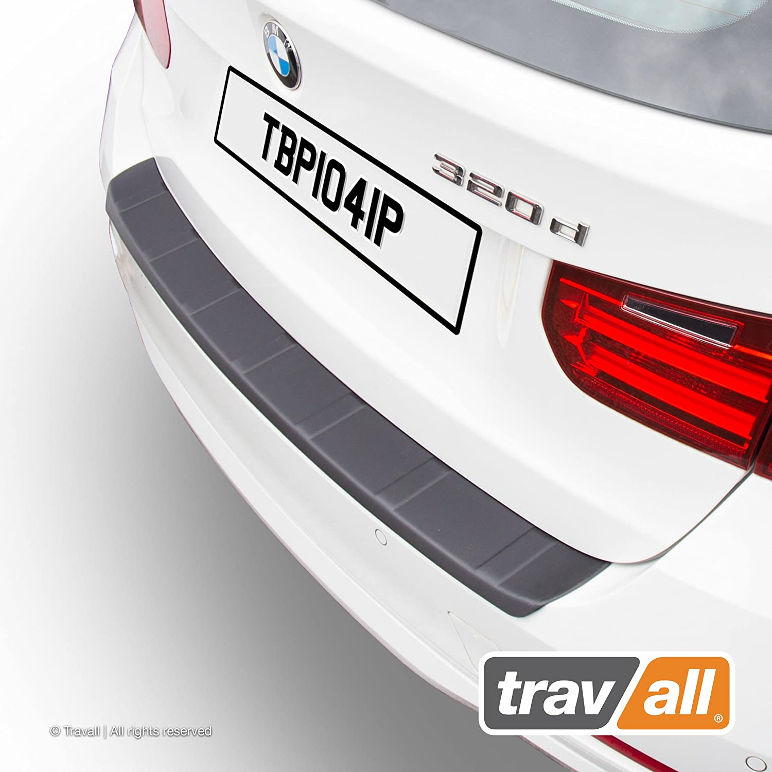 Vehicle-Specific Black Plastic Moulded Rear Bumper Protector Travall Protector TBP1041P Ridged
