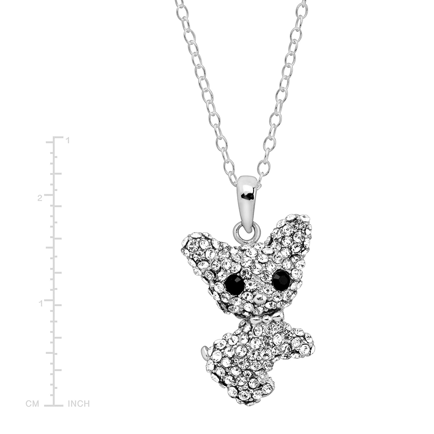 49a1fd75adca4 Amazon.com: Crystaluxe Year of the Dog Chihuahua Pendant Necklace ...