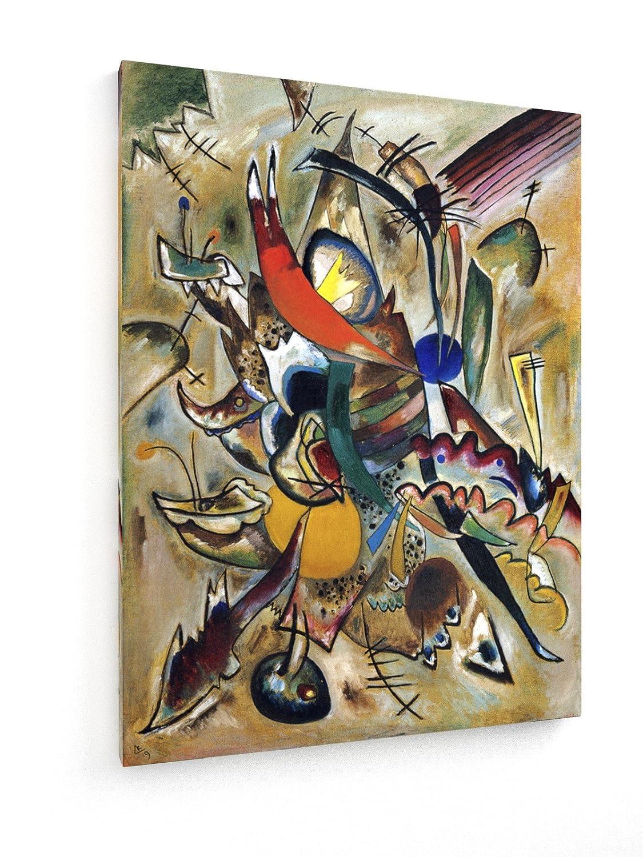 Wassily Kandinsky - Malen mit Punkten - 60x80 cm - Premium Leinwandbild auf Keilrahmen - Wand-Bild - Kunst, Gemälde, Foto, Bild auf Leinwand - Alte Meister Museum B07DHVVLLR | Feinbearbeitung
