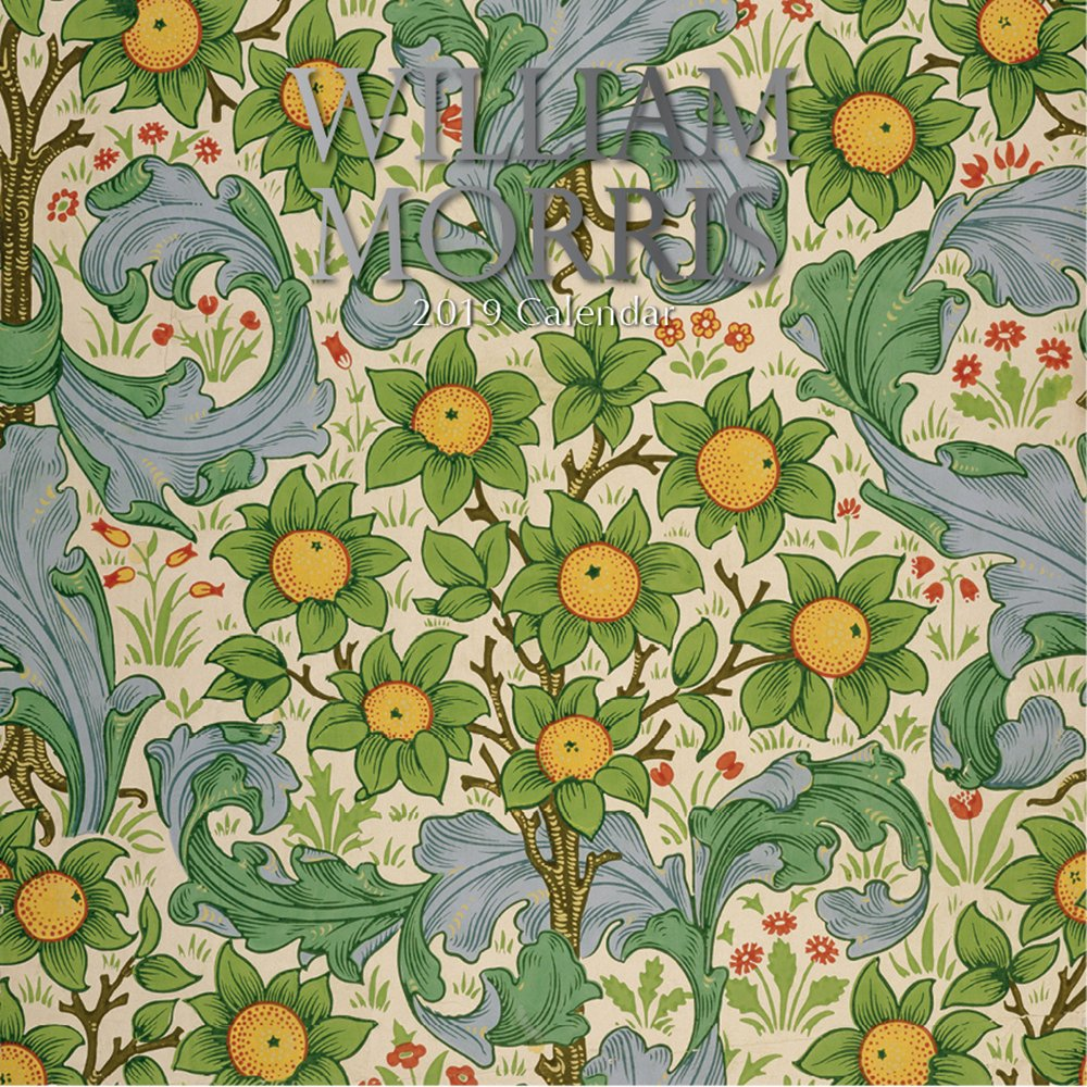 2019 William Morris - Calendrier Mural 30 X 30 Cm En Anglais The Gifted Stationery