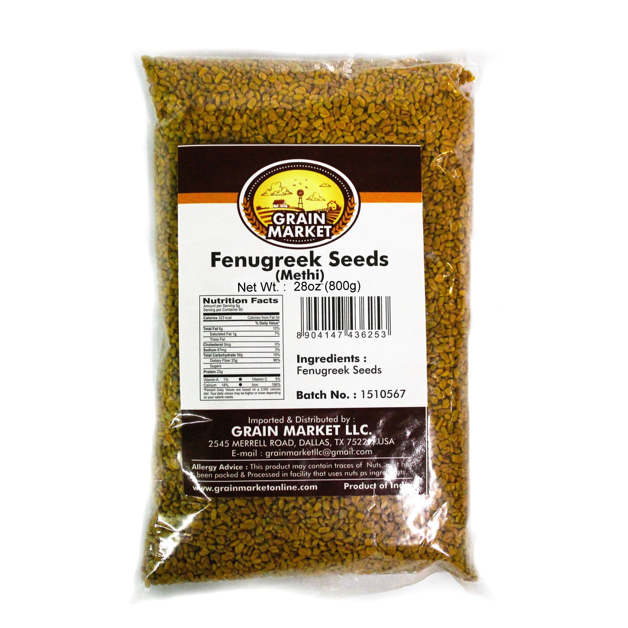 Grain Market Fenugreek Seeds 800g by Grain Market (Image #1)
