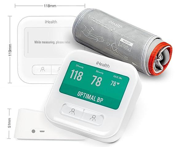 iHealth BPM1 Monitor de presión arterial de brazo inalámbrico inteligente con pantalla: Amazon.es: Salud y cuidado personal
