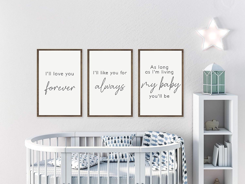 Amazon.com: PotteLove Set of 3 Baby Room Decor,Nursery Wall Decor