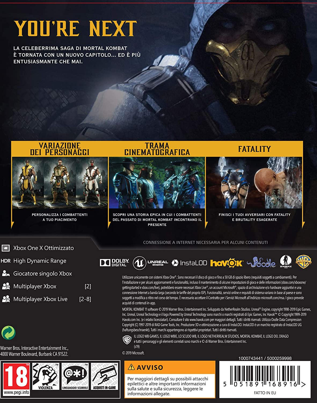 Mortal Kombat 11 Special Edition - Xbox One [Importación italiana ...