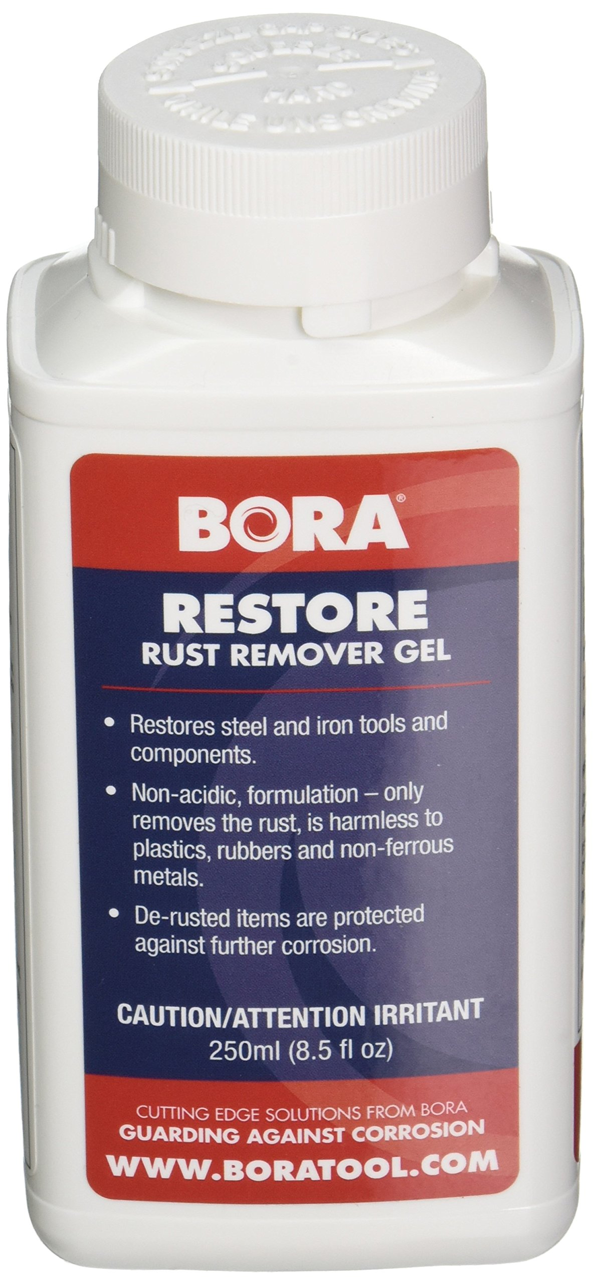 Restore Rust Remover Gel Bora STN-RRG250 250ml. Combines the Power of Restore Non-Acidic Rust Remover in a Convenient-to-Use Gel