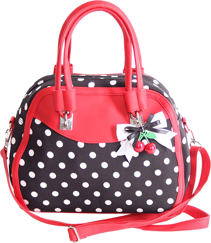 SugarShock Damen Handtasche Elsa Polka Dots