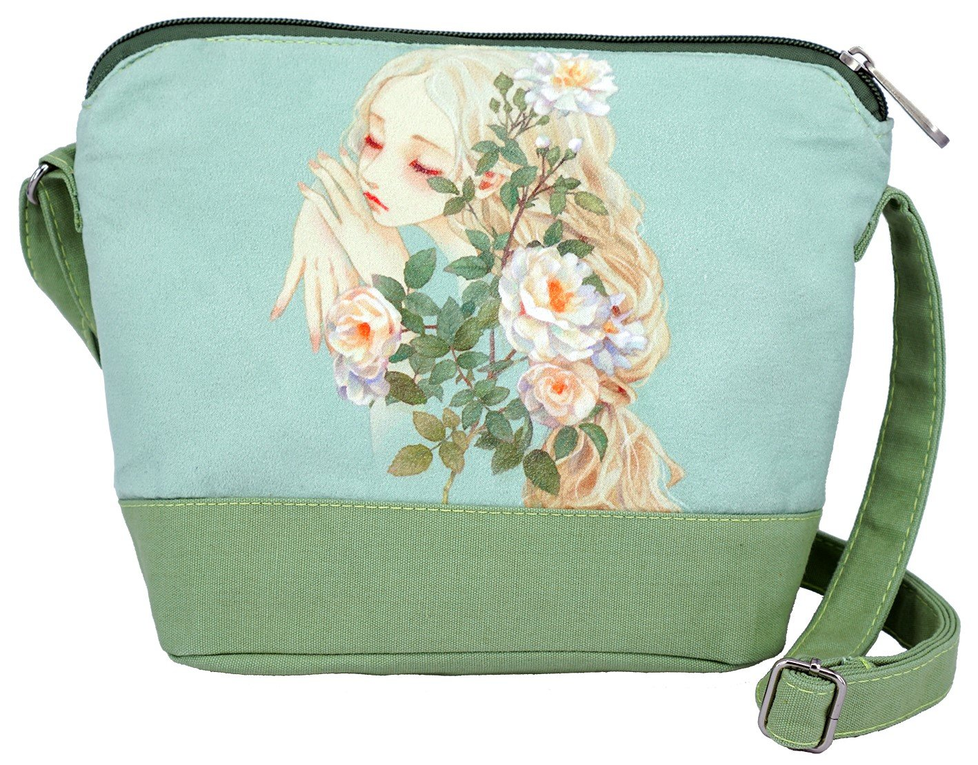 62afa86fb Buy Crest Design Cute Canvas Crossbody Bag Shoulder Bag Purse for Girl and  Teenage (Green) Online at Low Prices in India - Amazon.in