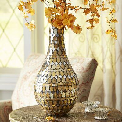 Golden Mosaic Vase - Teardrop | Pier 1 Imports