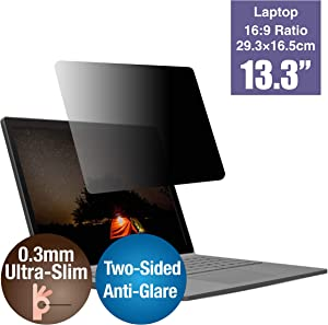 KAEMPFER Ultra-Thin Reversible Using Anti-Blue Light Anti-Glare Privacy Screen Protectors Filter for Laptop 13.3-inch Widescreen (16:9)