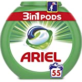 Ariel 3-in-1 Pods Original Washing Capsules, Cleans, Lifts Stains, Brightens, 55 Washes