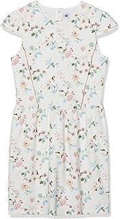 Petit Bateau Blanche Robe Fille: : Vêtements et