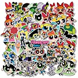 The Powerpuff Girls Pack of 74 Stickers for Vinyl Waterproof Water Bottles Car Sticker Motorcycle Bicycle Luggage Decal Graff