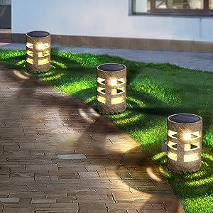 Solar Garden Lights, Outdoor Solar Landscape Lights, Solar Yard Lights Waterproof, Auto On/Off .Suitable for Pathway,Grassland, Walkway,Yard,Backyard,Driverway (4pcs)