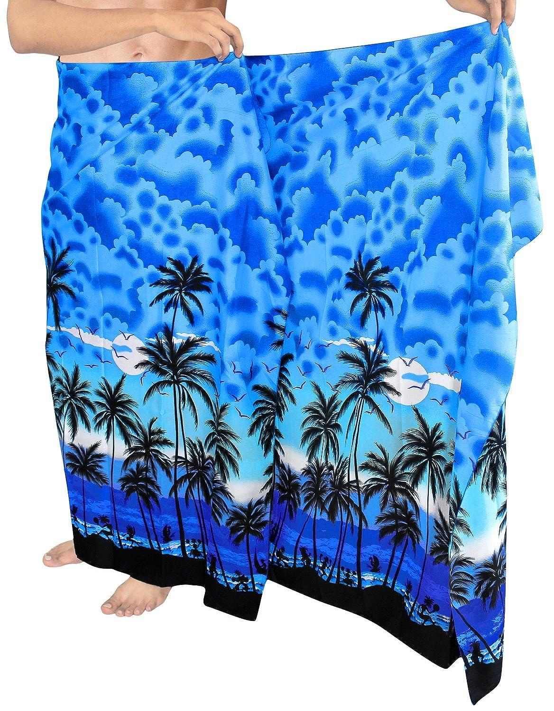 LA LEELA Bathingsuit Traje de baño de la Playa Sarong Hawaiano de los Hombres
