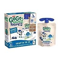 GoGo squeeZ yogurtZ, Blueberry, 3 Ounce (4 Pouches), Low Fat Yogurt, Gluten Free...