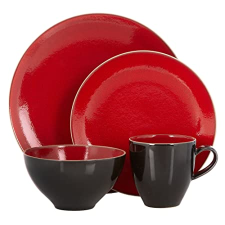 Rjr.John Rocha Red Glazed u0027Picou0027 16 Piece Dinnerware Set  sc 1 st  Amazon UK & Rjr.John Rocha Red Glazed u0027Picou0027 16 Piece Dinnerware Set: RJR.John ...