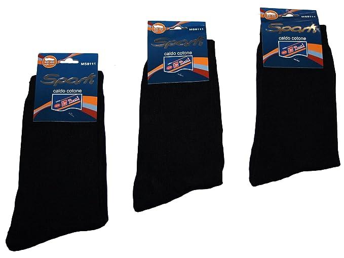 101 – 50 BFL Lote de 12 pack calcetines Hombre Clásico Color Negro Uni Tamaño 45