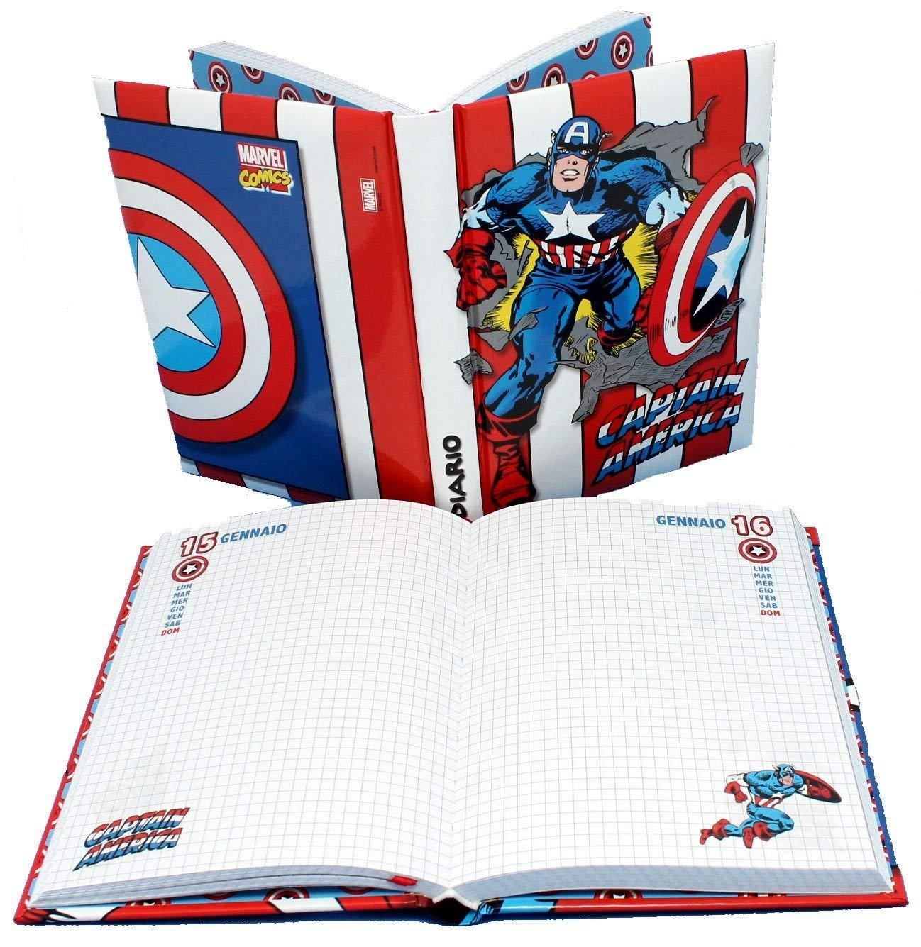 Capitán América - Agenda Diario estándar 18 x 13 - Escuela ...