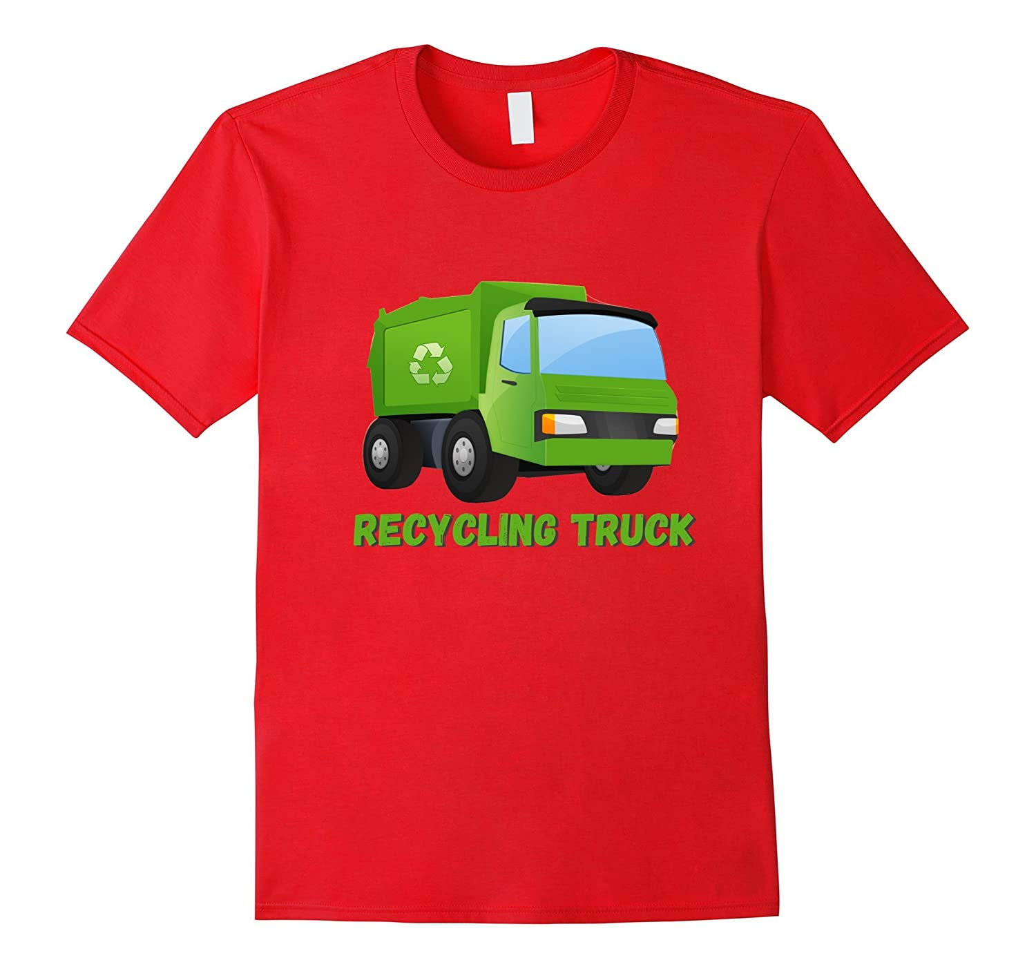 Boys Recycling Garbage Truck Short Sleeved T-Shirt-CD