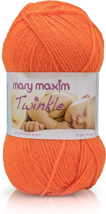 599-001 Mary Maxim Twinkle Yarn-White