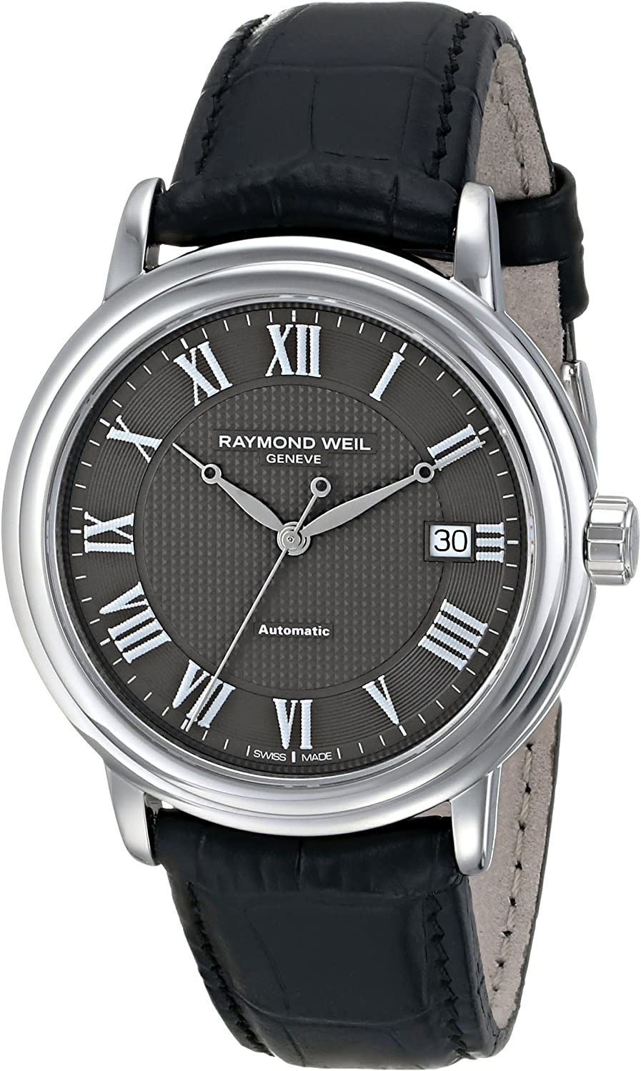 Raymond Weil Men s 2837-STC-00609 Automatic Stainless Steel Grey Dial Watch
