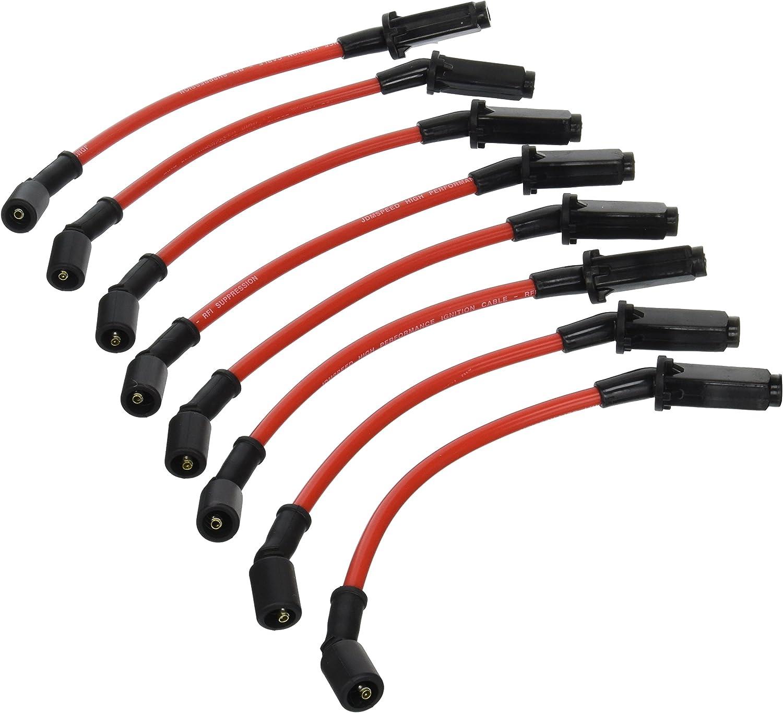 JDMSPEED New 10.5MM Performance Spark Plug Wires Set Chevy GMC 1999-2006 LS1 Vortec 4.8L 5.3L 6.0L