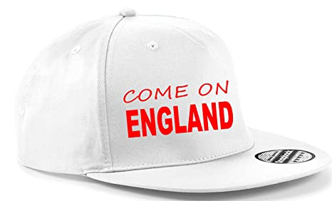 79aaeac5cd6 Snapback Cap HAT Come on England Football World Cup UK Team Adjustable (RED  HAT)  Amazon.co.uk  Clothing