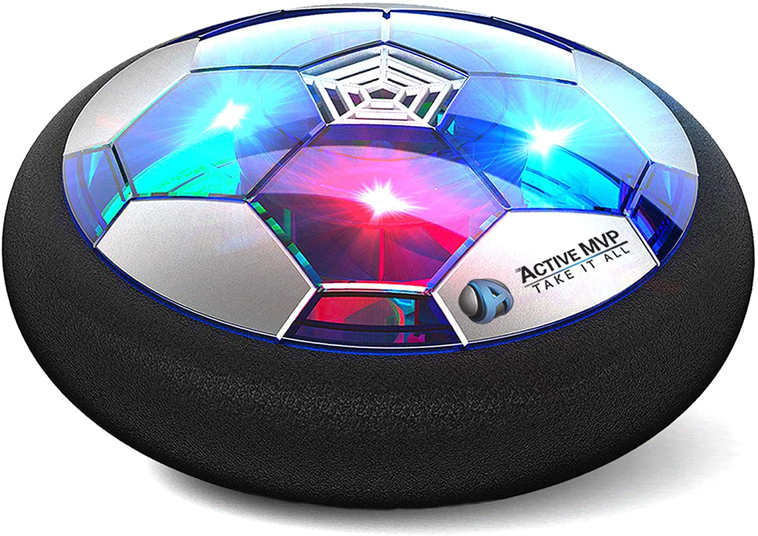 Hover Soccer Ball Boy Toys Rechargeable, Toddlers Kids Indoor Air Soccer Ball Floating LED Light Up, Power Kick Disc Fun with Foam Bumper (No AA Battery Needed) Gift For Boys Girls Age 2 3 4 5 6 7 8 9: Sports & Outdoors