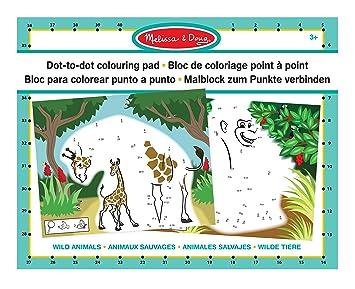 Melissa Doug Abc 123 Dot To Dot Coloring Pad Wild Animals