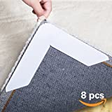 IDEALCRAFT Rug Gripper Non Slip Rug Pad 8 pcs for Area Rugs Pad, Anti Curling Rug Gripper, Double Sided Tape Work for Indoor & Outdoor Carpet Mat, Rug Slip Grip