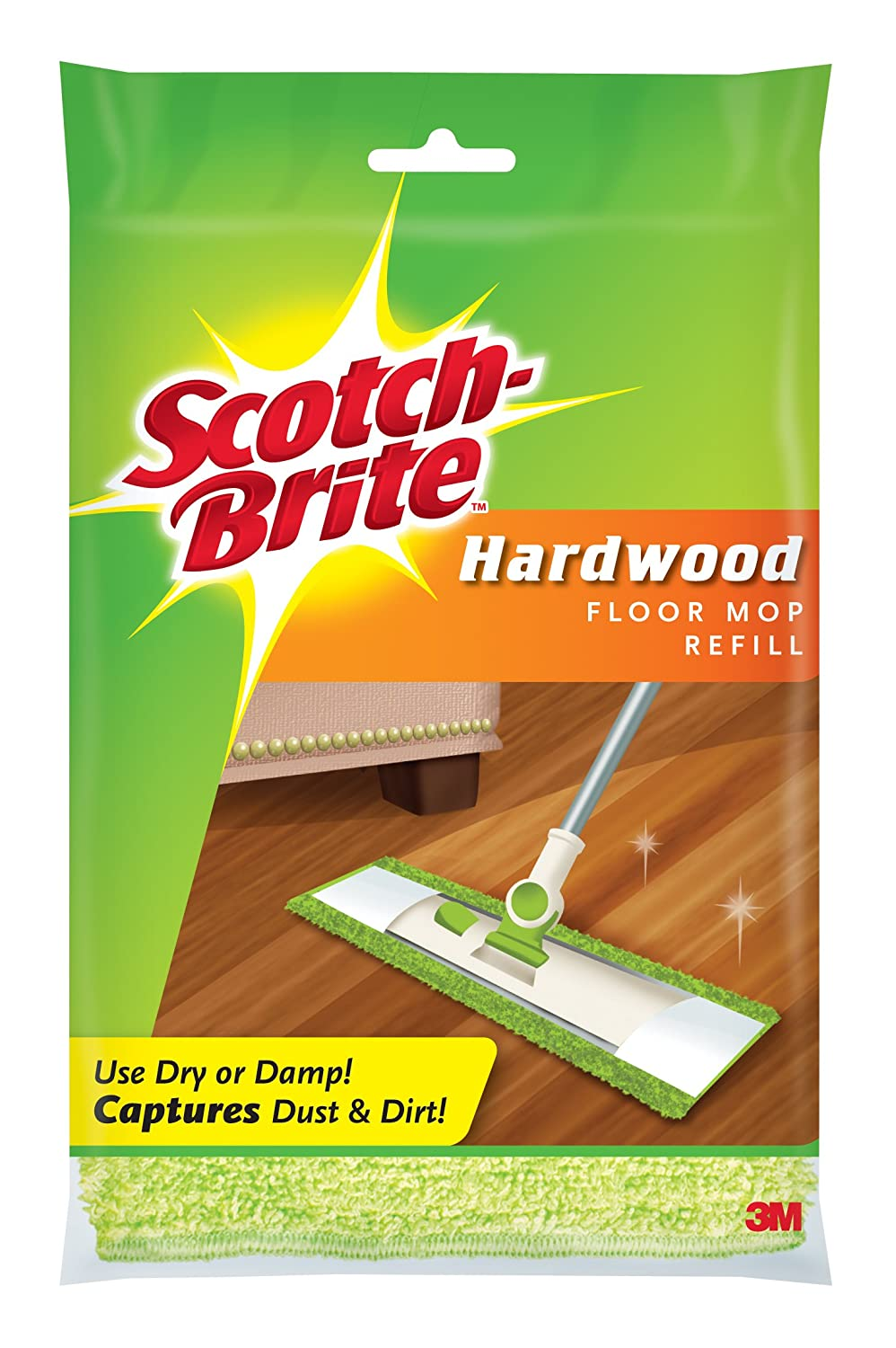 Scotch-Brite Microfiber Hardwood Floor Mop Refill, 1-Count