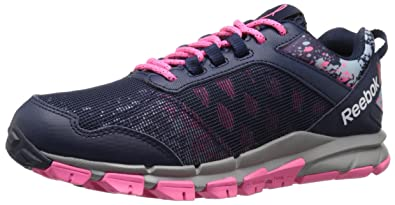 Reebok Women's Trail Warrior Running Shoe, AvonCollegiate NavySolar PinkZee
