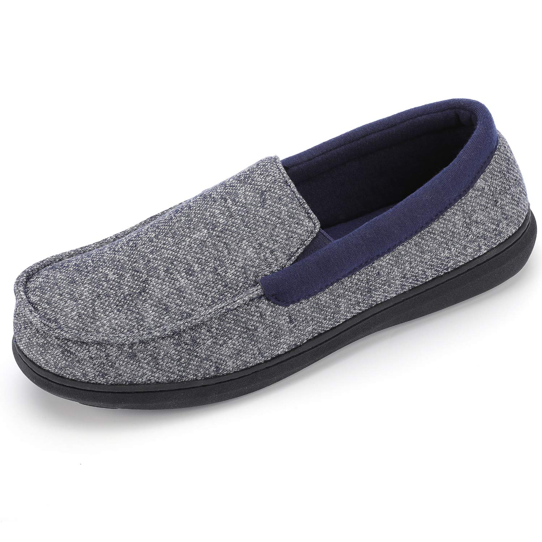 RockDove Men's Moc Slipper with SILVADUR Anti-Odor Fabric