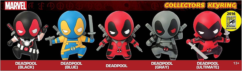 Marvel Deadpool 5 Pc SDCC Exclusive Set 2016 Action Figure Monogram International 68130