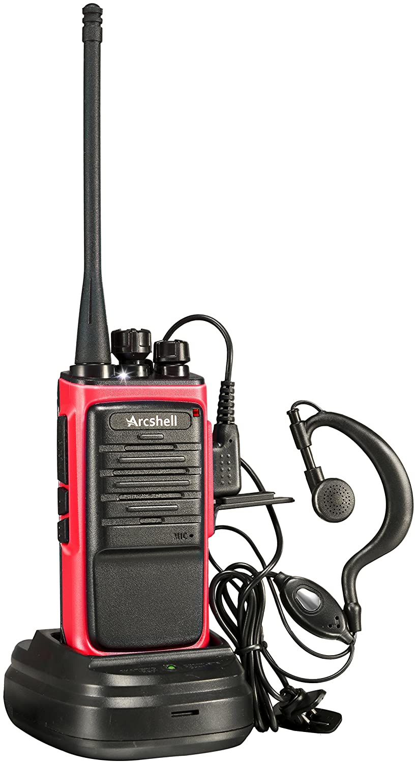 Arcshell Rechargeable Long Range Two-Way Radios with Earpiece 2 Pack Walkie Talkies UHF 400-470Mhz Li-ion Battery and Charger Included 4350440431