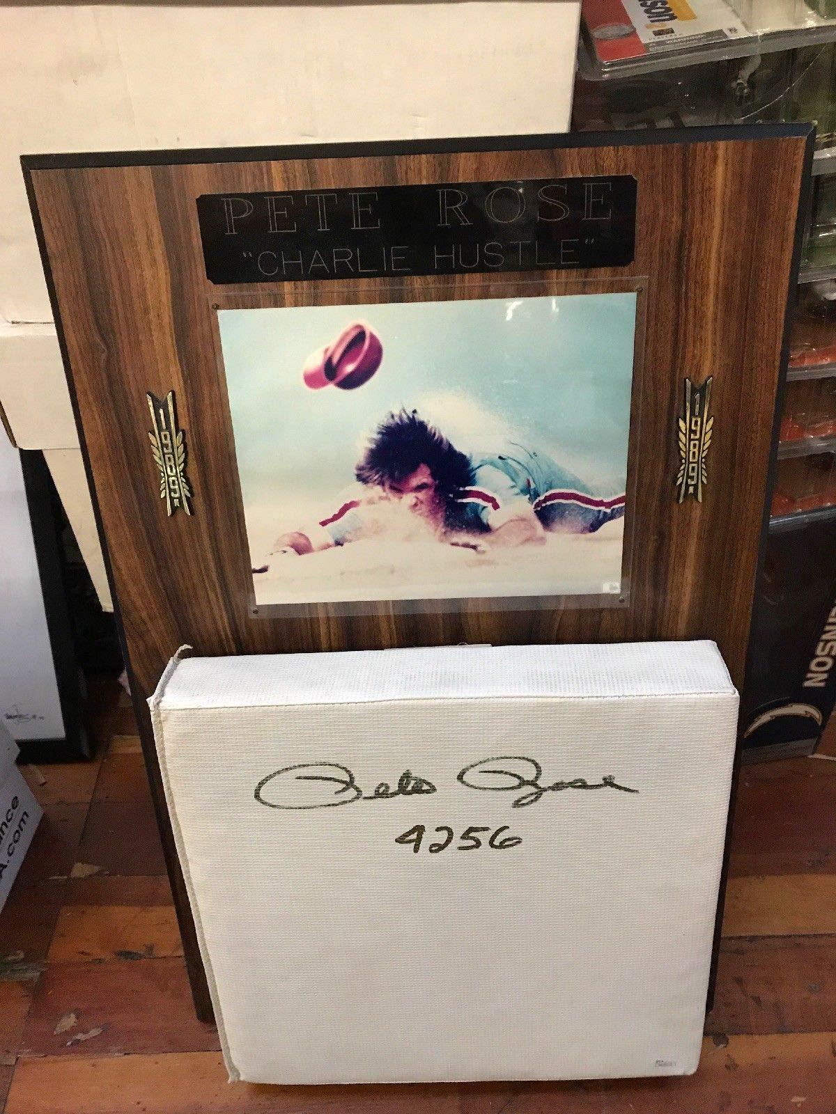 Pete Rose Autographed Signed Base 4256 Charlie Hustle JSA Authentication
