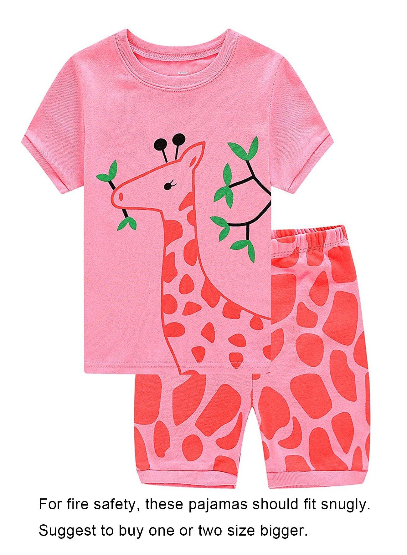 Family Feeling Deer Little Girls' Sleepwear Toddler Pajama Set Pjs Size 5 Years