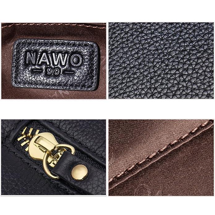 Amazon.com: NAWO Bolso de mano de cuero para mujer, con asa ...