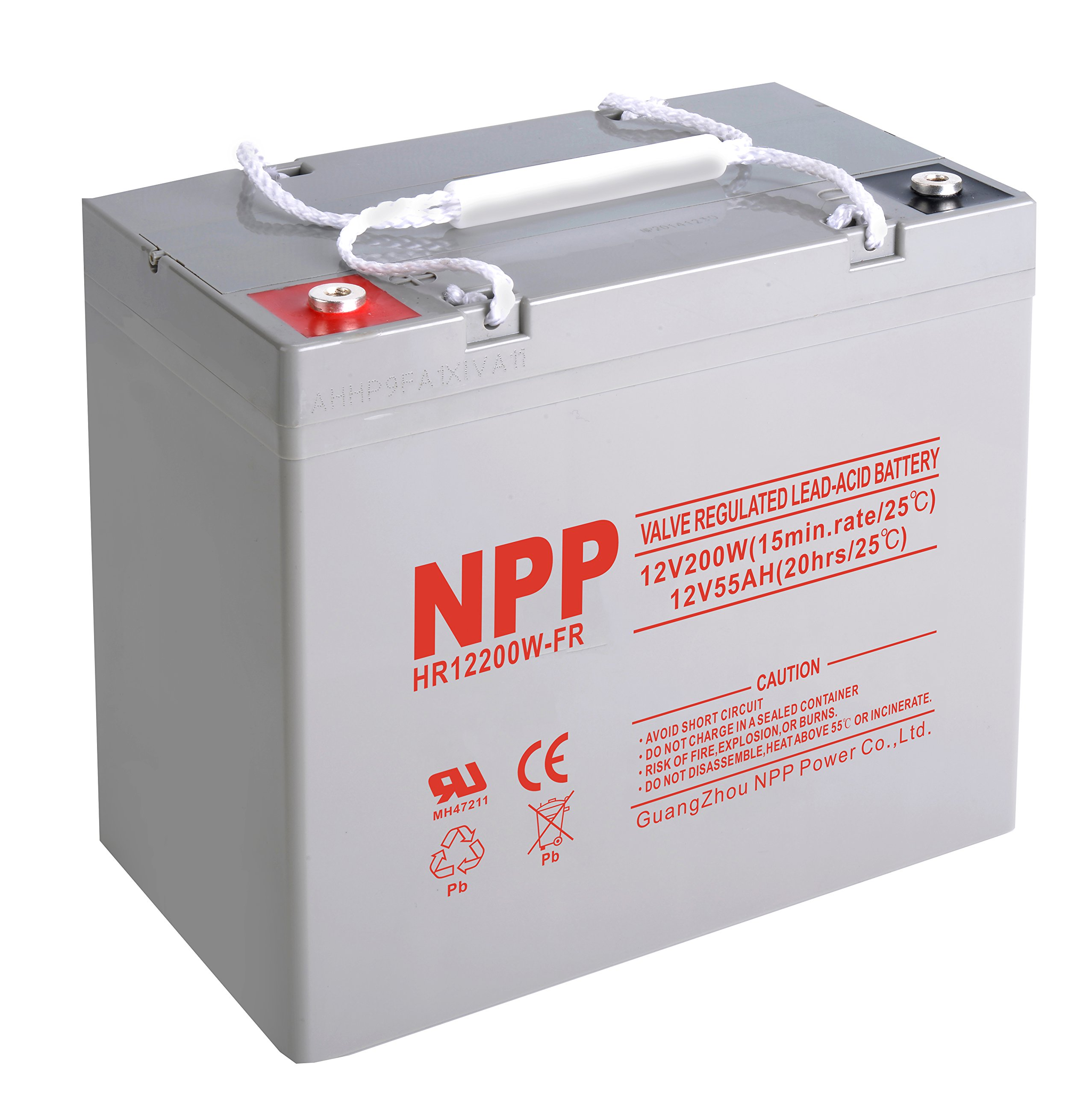NPP HR12200W FR 12V 200W 12Volt 55 Amp High Rate Rechargeable AGM Lead Acid UPS Battery