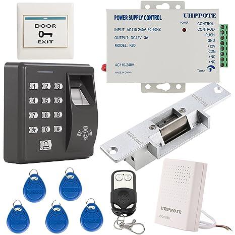 UHPPOTE Huellas Digitales Dactilares RFID EM-ID Tarjeta Kit Sistema De Control Acceso Con No
